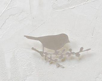 Bird Brooch, woodland jewelry, signature jewelry