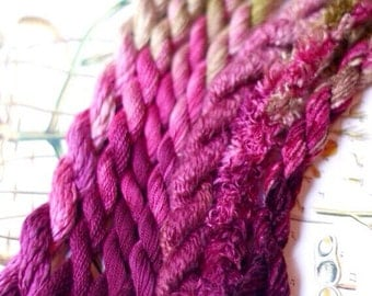 Silk Embroidery Thread for Needlework, Embroidery, Stumpwork hand dyed in Victorian Rose