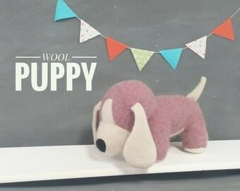 Wool Puppy - Stuffed Toy, Plush, Handmade, Children, Gift