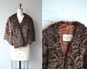 Persian Lamb stole | vintage 1959s fur stole | Astrakhan fur wrap