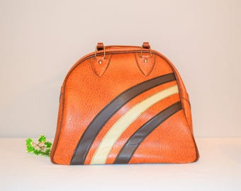 Vintage Bowling Golden Brown Bag