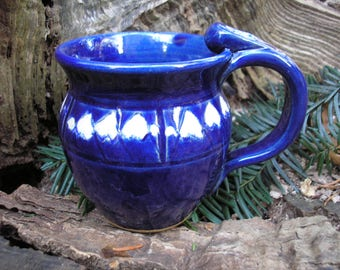 Mountain Mug / Coffee Mug / Tea Mug /  12 Ounce Mug / deep cobalt blue glaze,coffee mug, tea mug,favorite mug