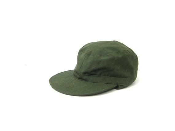 vintage Army Green Hat Ear Flap Hunting cap Men's Driving Hat Hipster Unisex Earflap Cap Size Medium Large