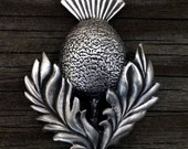 Scottish Thistle Pewter Brooch Pin | Scottish Jewelry | Thistle Jewelry | Flower Jewelry | Handcrafted Jewelry | by Treasure Cast Pewter