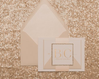 Foil Stamping - Neutral Romantic Wedding Invitations - SAMPLE (BLAIRE)