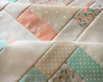 """Unfinished baby sized quilt - Moda - Lullaby by Kate and Birdie  38"""" x 38"""""""
