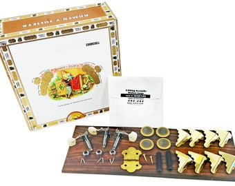 3-string Cigar Box Guitar Kit with How-To Guide - Everything you need except the neck!