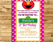 Elmo Custom Made Birthday Invitation for 2 year old - 4 x 6 print - Digital Delivery