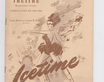 1948 central theatre Rockefeller center New York icetime program Americans only ice theatre