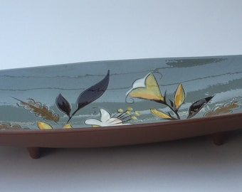 """Stangl GOLDEN HARVEST 15"""" Relish Serving Tray Bread Tray 1960s Mid Century Modern"""