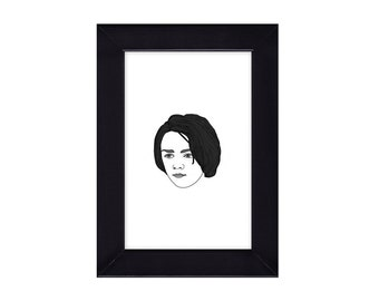 4 x 6 Framed Arya Stark / Game of Thrones Portrait