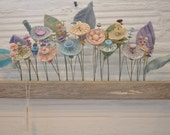 small pastel button flower wallflower- RESERVED for jecapers