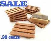 SALE - 10 aromatic Spanish cedar soap dishes - .99 cents each - handmade in America