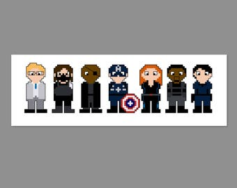 Winter Soldier Pixel People Character Cross Stitch PDF PATTERN ONLY