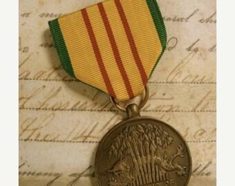 ON SALE Stunning Antique Medal Ribbon Badge