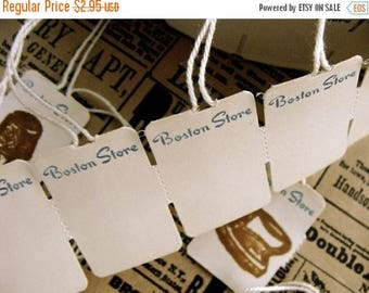 ON SALE 1 Dozen Vintage Boston Store String Tags