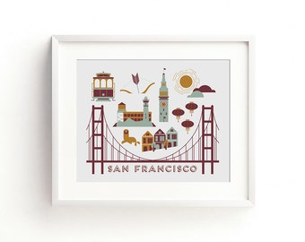 San Francisco Letterpress Art Print