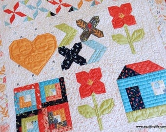 Happy Days Wall Hanging Quilt Pattern