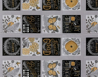 """Pebble Grey Inspired Fabric - Deb Strain - Moda - 19790 12 - 23"""" x 44"""" - 32 blocks"""