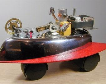 ROBOT ROCKET CAR Found Object Robot Sculpture Assemblage