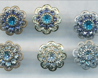 SWAROVSKI POST EARRING--12MM Wear As Is or Add More!  Priced per pair