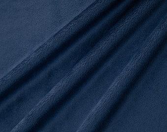 "Navy Cuddle/Minky Solid, EXTRA WIDE 90"", 1 HALF yard, Shannon Fabrics"