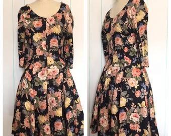 Floral Print Day Dress Size 8