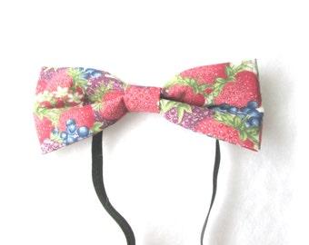 Mixed Berries Elastic Bow Tie