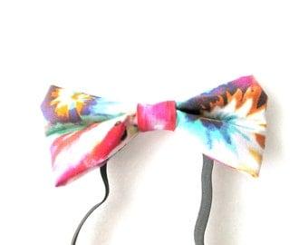 Summer Tie Dye Elastic Bow Tie