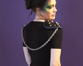 Black and Blue Chained Epaulettes