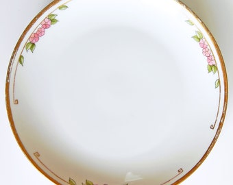 Antique Hutschenreuther Selb Plate, 1913 Bavarian Plate, Vintage Gold Rimmed Plate, Cora A Miller, Porcelain Bread and Butter Plate