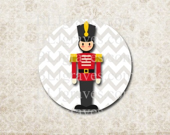Christmas Nutcracker Stickers Holiday Envelope Seals Party Favor Treat Bag Stickers CS025
