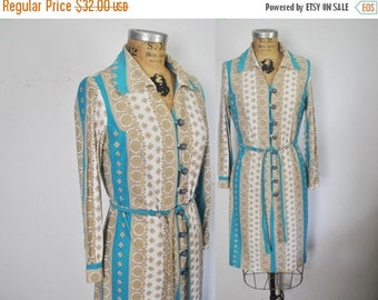 50% OFF 1970s Day Dress / boho / Small