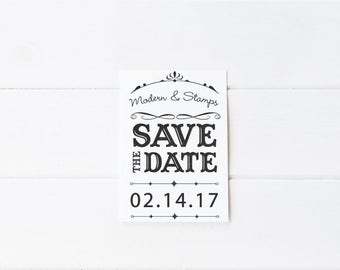 Custom Wedding Stamp   Save the Date Stamp   Custom Rubber Stamp   Custom Stamp   Personalized Stamp   Vintage Save the Date   D7