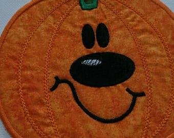 Iron On Pumpkin Patch/ applique, Pumpkin embroidered applique patch