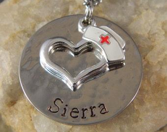 Personalized Name Nurse Necklace