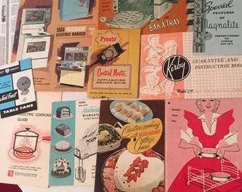 1950-60s Kitschy Kitchen Pamphlet Lot