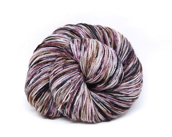 "Acoustic Sock Yarn - ""Whiskey and Wine"" - Handpainted Superwash Merino - 400 Yards"