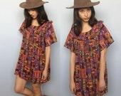 the narrows -- vintage 70s rayon crepe mini dress S/M/L