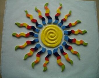 ENYA - Ginormous Deconstructed RAINBOW SUN - Ceramic Mosaic Tiles Set