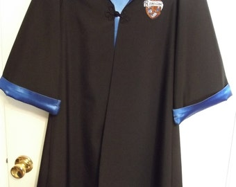 Ravenclaw robe, Harry Potter inspired, size 6/8 youth with wand