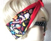 Candy Sweets  Treats Hair Tie Head Scarf by Dolly Cool Super Cute Kawaii Japan Harajuku
