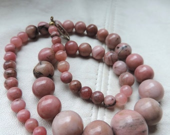 rhodonite necklace antique