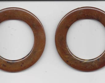 "Sale!  1 3/8"" O Ring (2) - tortoise color"