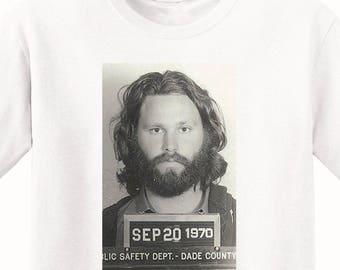 Jim Morrison's Mugshot 1970 Men's T-Shirt