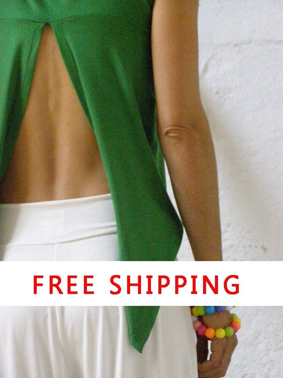 Free Shipping Convertible chic top - 3  ways to wear your summer top-tank top-womens top-Made to order-Great for plus size too