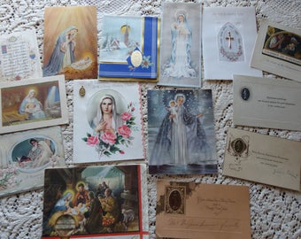 Inspirational nad Religious Images Some Catholic References and Medals All Occasion Lot No 232 Total of 13 Birthday Christmas