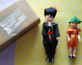 Vintage Captain Hook and Peter Pan Vinyl Dolls were Lever Brothers Premium RARE