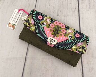 Necessary Clutch Wallet, Tula Pink, Slow and Steady, Accordian Wallet