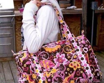 Quilted Large Weekender/Duffel Bag/Travel Tote